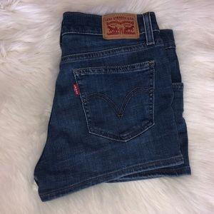 levi's blue jean shorts